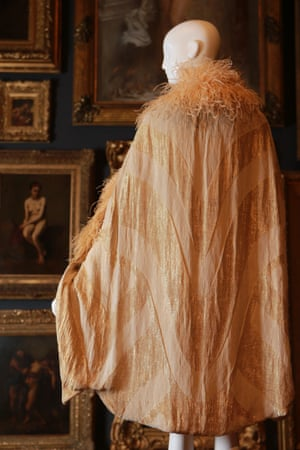 Evening cape (1928) by Callot SoeursSilk (satin, velvet, brocade), metallic thread, feathers