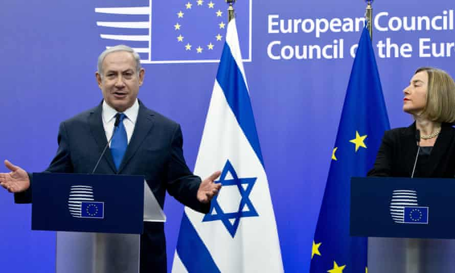 Israeli prime minister Benjamin Netanyahu and EU high representative Federica Mogherini