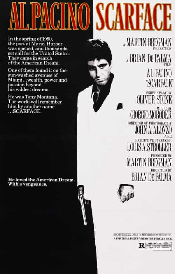 Beloved of students everywhere … the classic Scarface poster.