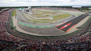 It's pretty packed at the Hockenheimring.
