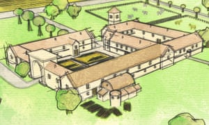 An artist's impression of what the villa would have looked like in Roman times.
