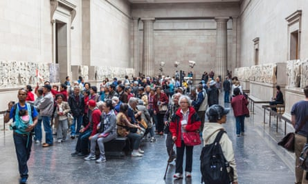 Visitors at the British Museum, London, in 2015.