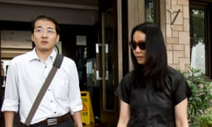 Lawyer Xia Lin with wife of Ai Weiwei in 2011.