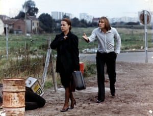 Jeanne Moreau and Gerard Depardieu in Les Valseuses, 1974
