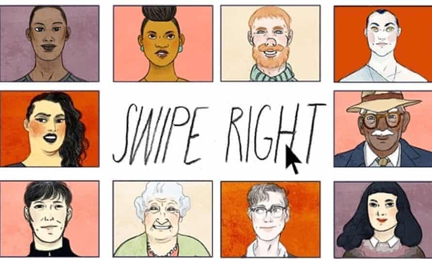 swipe right illustration