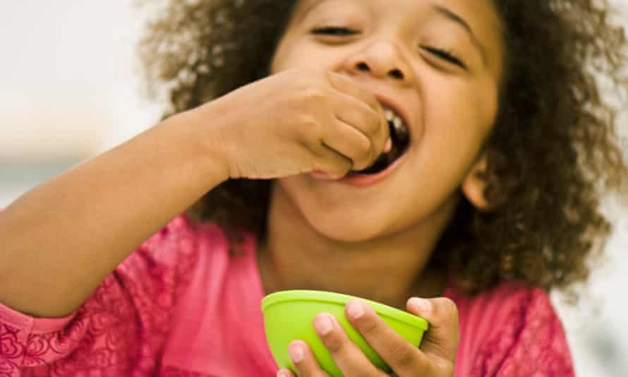 For children, flavour and texture contrasts are more satisfying.