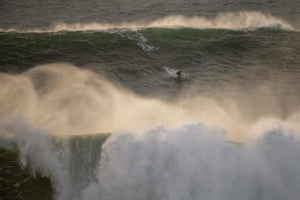 Brazilian Lucas Chumbo rides a wave.
