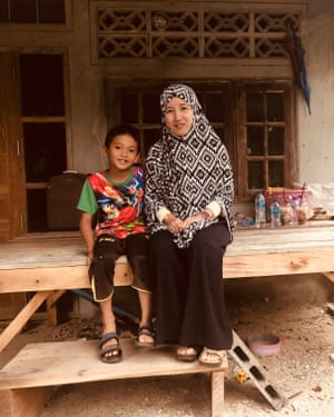 Amal Lateh, pictured with her son Mushin, was forced at 15 to marry a relative ten years older.