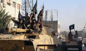Islamic State fighters in Raqqa in 2014.