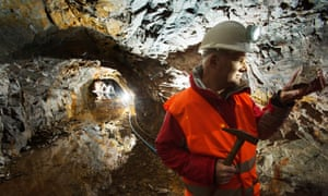 Scotgold Resources chief Richard Gray at the Cononish goldmine near Tyndrum.