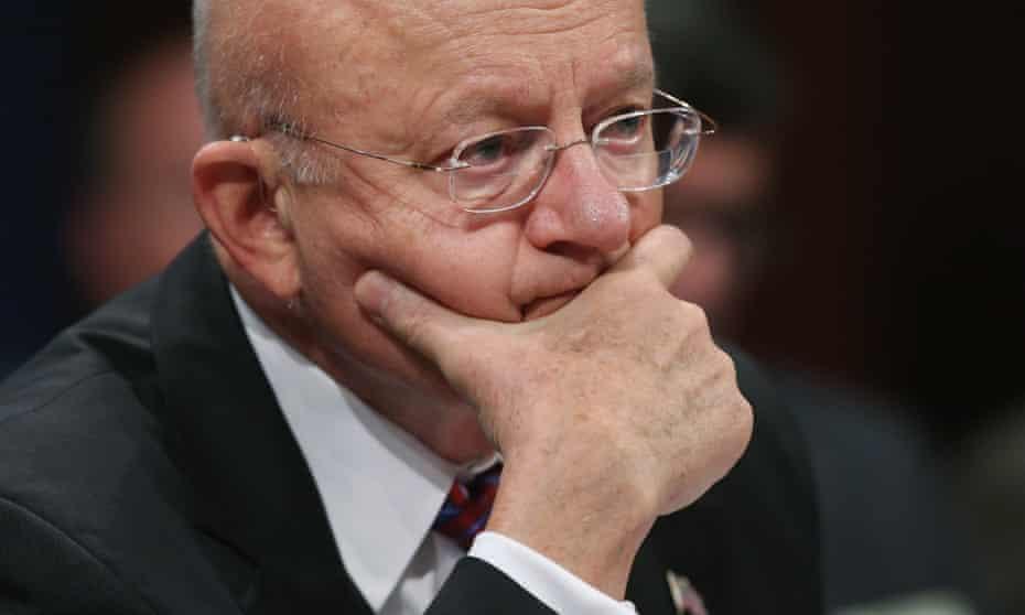 Director of National Intelligence James Clapper testifies in Washington.