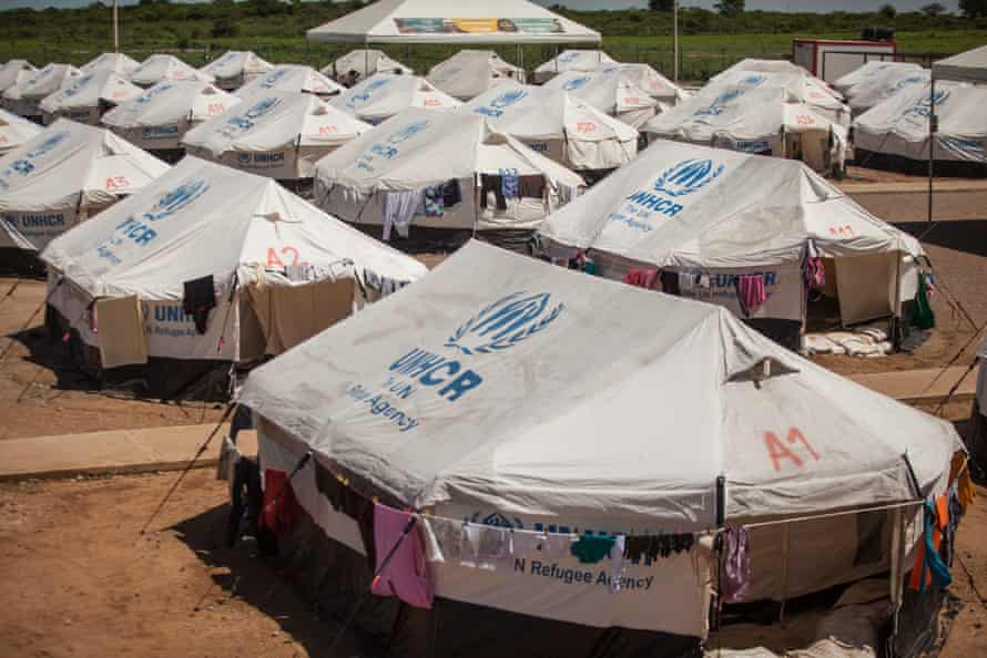 Tents at a UN refugee agency camp in Maicao, La Guajira.