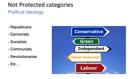 And non-protected categories.