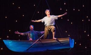 Nicholas Cannon (Quick Lamb, left) and Nicholas Jones (Fish Lamb) in State Opera South Australia's Cloudstreet