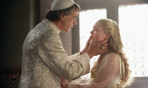 Jeremy Irons and Holliday Grainger in the TV drama The Borgias.