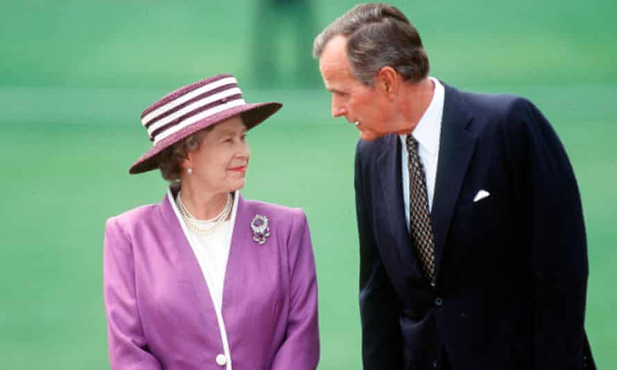Queen of 1991 and George HW Bush.