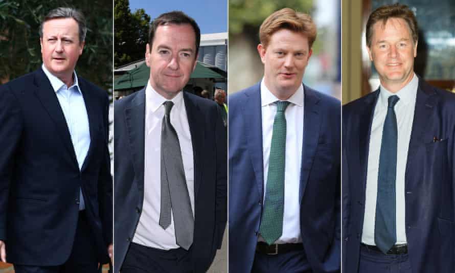 From left: David Cameron, George Osborne, Danny Alexander and Nick Clegg.