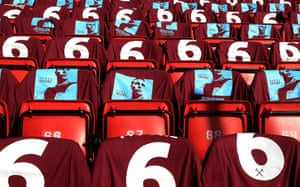 West Ham gave T-shirts to fans earlier this year to mark the 25th anniversary Bobby Moore's death.