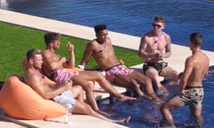 'Love Island' TV show, Mallorca, Spain - 29 Jun 2017<br>Editorial Use Only. No merchandising Mandatory Credit: Photo by ITV/REX/Shutterstock (8883381s) Rob, Steve, Nathan, Marino, Craig and Alex 'Love Island' TV show, Mallorca, Spain - 29 Jun 2017
