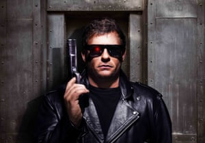 James Wade as the Terminator.