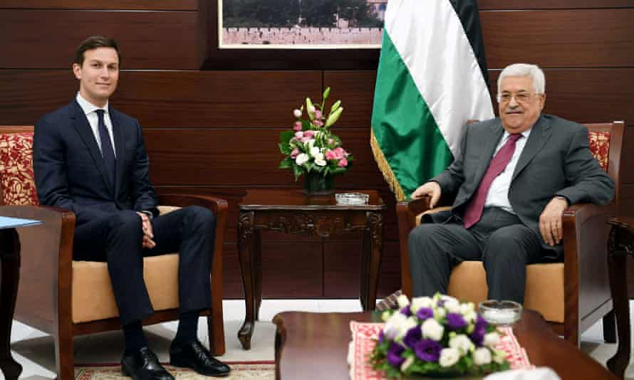 Palestinian president Mahmoud Abbas meets White House senior adviser Jared Kushner in Ramallah last week.