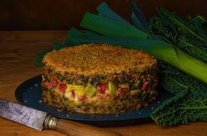 'A vitamin burst of greens in the winter rice pie': riso al forno.