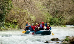 Rafting on the Corno river.