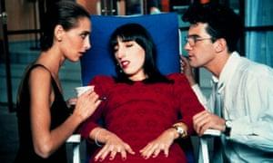 'I just have to lie down?' …Rossy de Palma, centre, with Maria Barranco and Antonio Banderas.