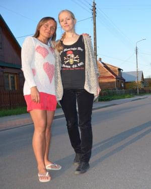 Joanna Łapińska and co-campaigner Agnieszka Jakoniuk.