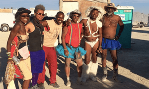 Burning Man's Black Rock Disco (David Miles in suspenders)