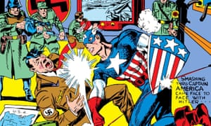 Detail from the cover of Captain American #1 from March 1941.
