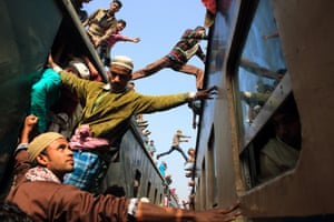 Jumping over the train, Gazipur, Bangladesh