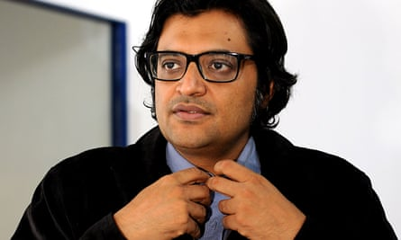 Arnab Goswami, who runs the right-wing channel Republic TV