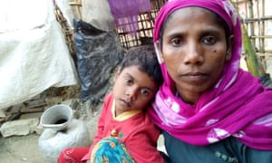 Noor Ayesha with her only surviving child, Dilnawaz Begum, in Bangladesh.