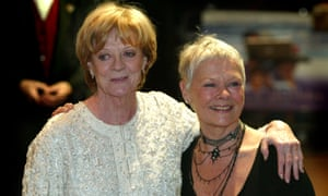 """'Every time I start anything I think, """"This time I'm going to be like Jude""""' … Maggie Smith and Judi Dench at the premiere of Ladies in Lavender, 2004."""