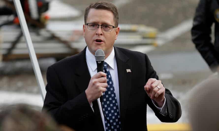 Representative Matt Shea said at the God and Country event in 2018: 'You all know you should an AR-15 and a thousand rounds of ammo? Because Antifa is getting ready to defend?'