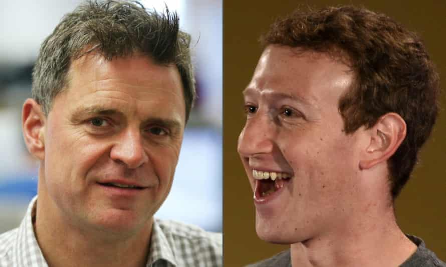 Espen Egil Hansen (L) and Mark Zuckerberg