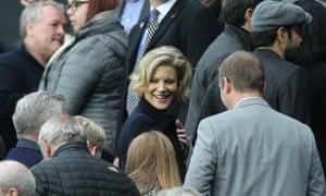 Amanda Staveley in a football crowd