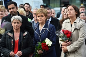 First Minister of Scotland Nicola Sturgeon and Leader of Scottish Labour party Kezia Dugdale attend a vigil in George Square, Glasgow.