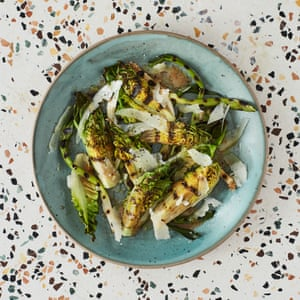José Pizarro's baby gem and spring onion salad with membrillo dressing.