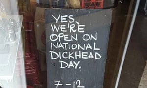 the sign chalked by matt chun outside his cafe in the nsw south coast town of