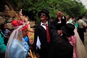 Panchimalco, El Salvador: Dancers of Los Chapetones