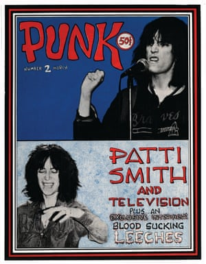'The two faces of Patti Smith' Vol 1, issue no 2, March 1976. Photograph by Guillemette Barbet; art/layout by John Holmstrom.