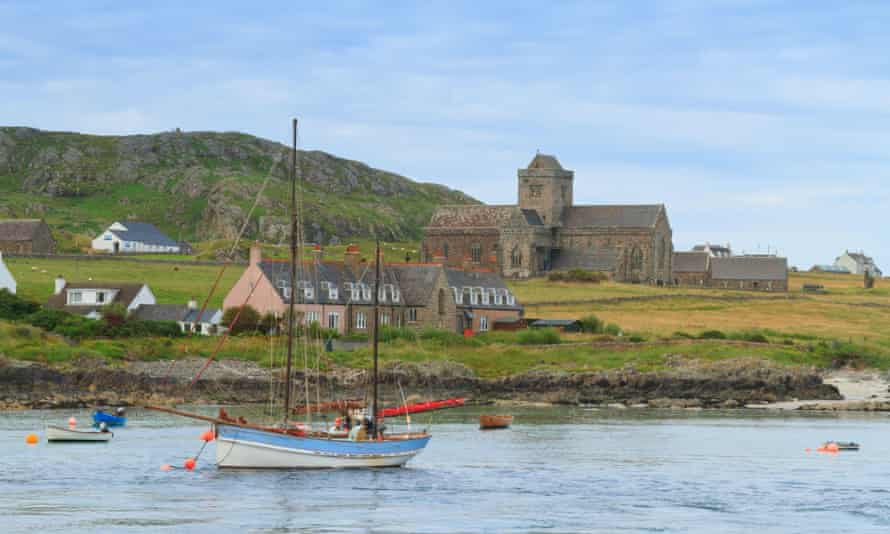 Iona and historic abbey, Inner Hebrides