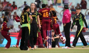 The West Indies chased down a record total to win their first women's World Twenty20 crown in the final against Australia.