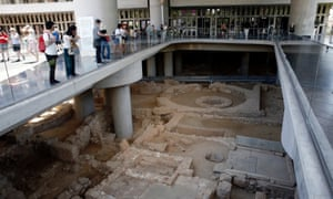 The excavation site, of villas and streets beneath the Acropolis Museum, is to open this month.
