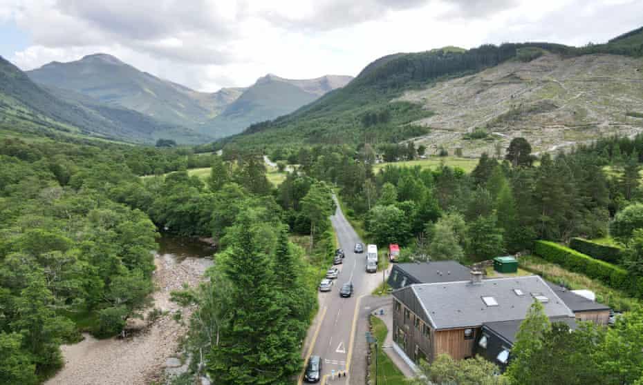 Glen Nevis hostel in Scotland.