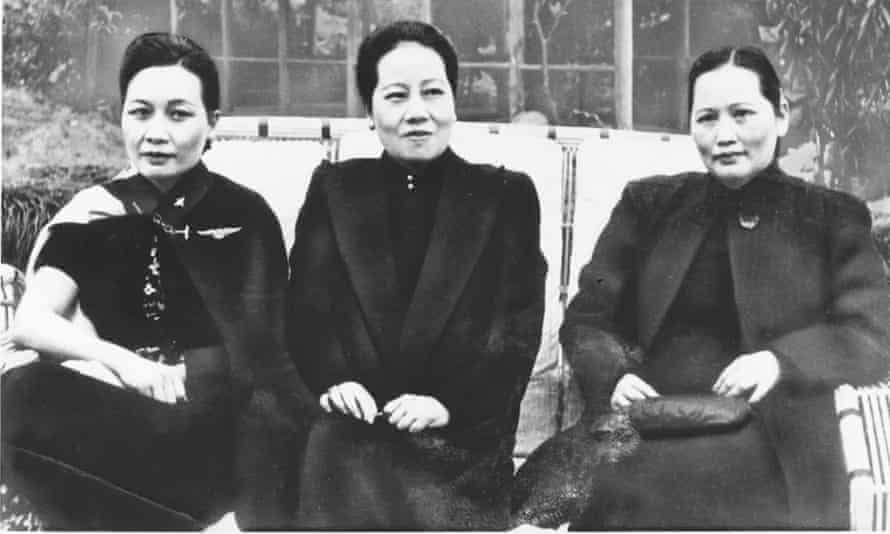 From left: Madame Chiang Kai-shek – Meiling – with her sisters Ailing and Qingling in 1942 in Chungking.