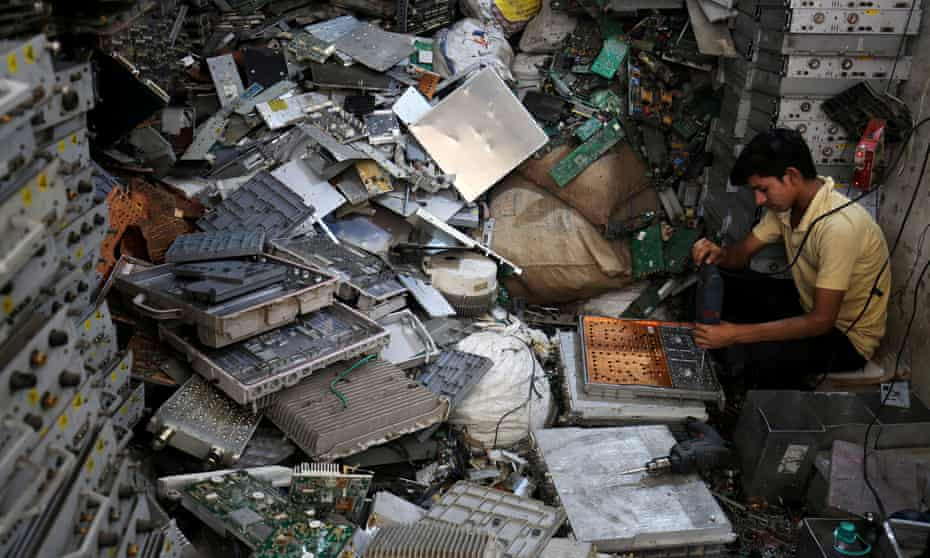 Hazardous e-waste material exported from the affluent developed world continues to plague cities in developing countries.