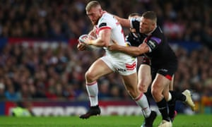 Josh Jones (right) was on the losing end against St Helens in the Grand Final.